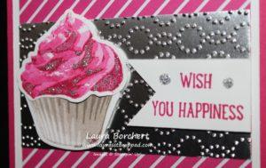 Glitter Cupcake, www.LaurasStampPad.com