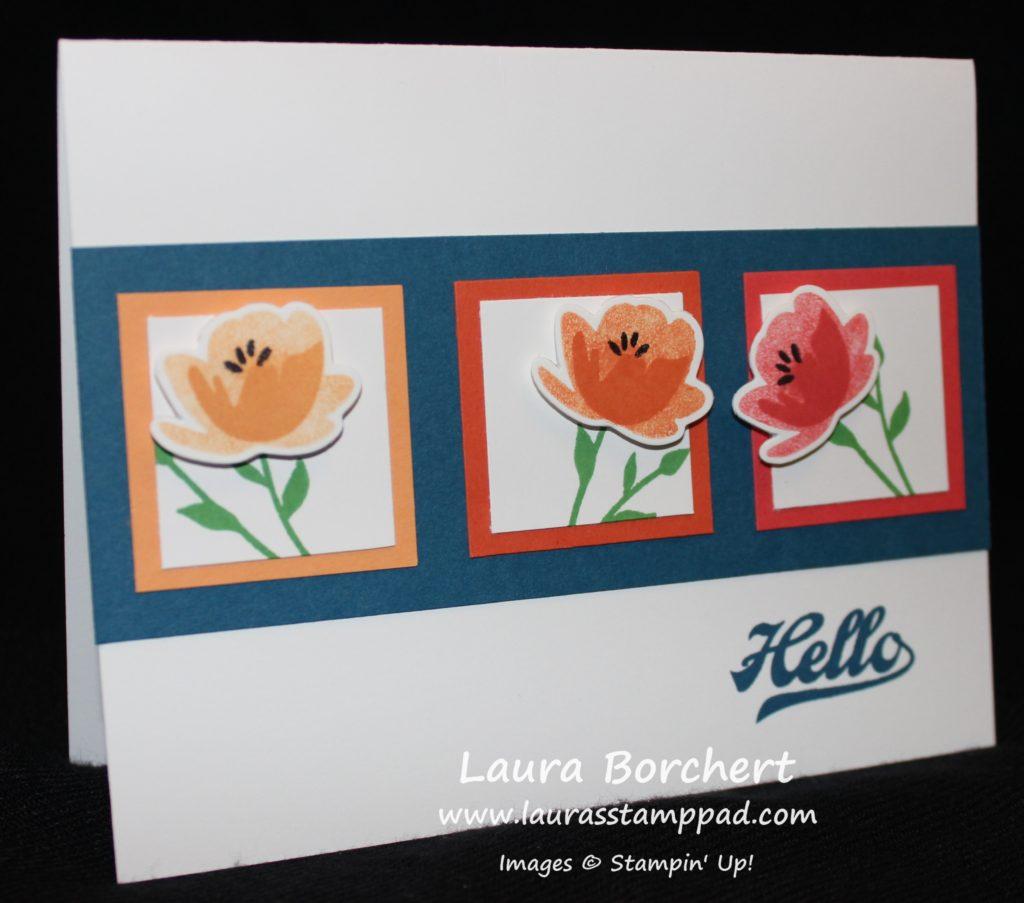 Hello Flowers, www.LaurasStampPad.com
