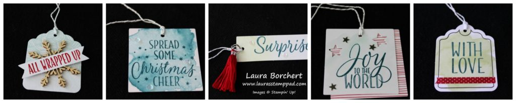 Gift Tags for Christmas, www.LaurasStampPad.com