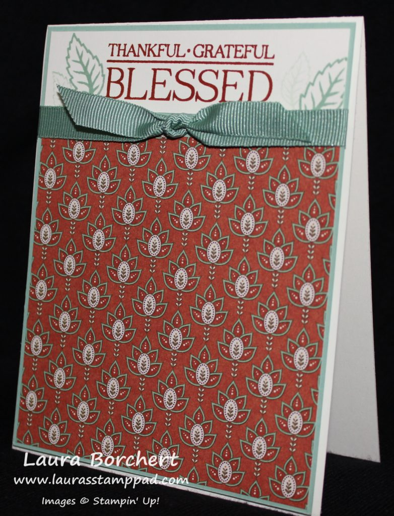 Blessed, www.LaurasStampPad.com