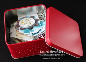 Christmas Tags in a Tin, www.LaurasStampPad.com