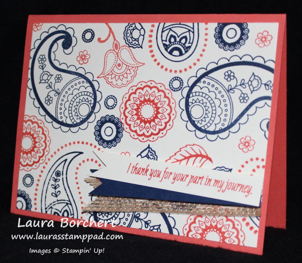 Paisleys Background, www.LaurasStampPad.com
