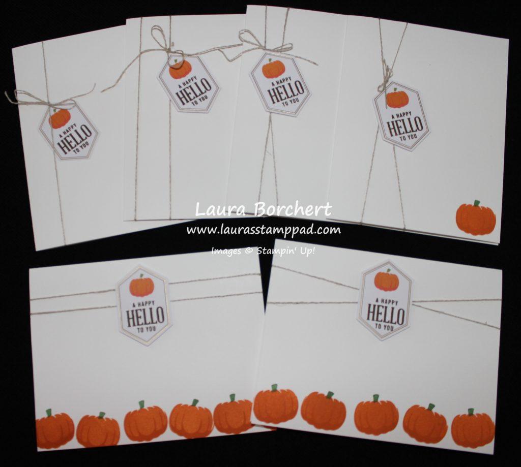 pumpkin-cards, www.LaurasStampPad.com