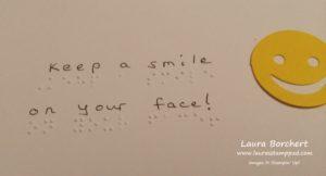 ronald-mcdonald-braille, www.LaurasStampPad.com
