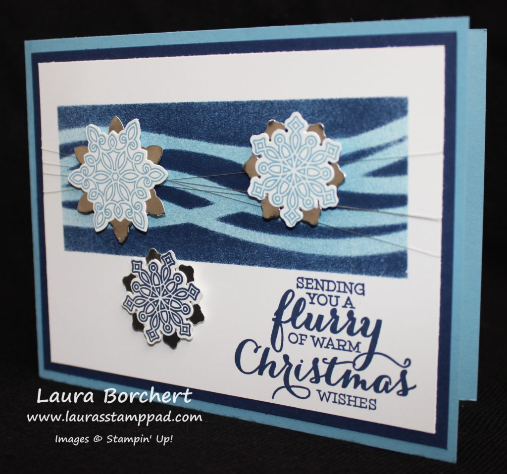 Snowflakes Masking, www.LaurasStampPad.com