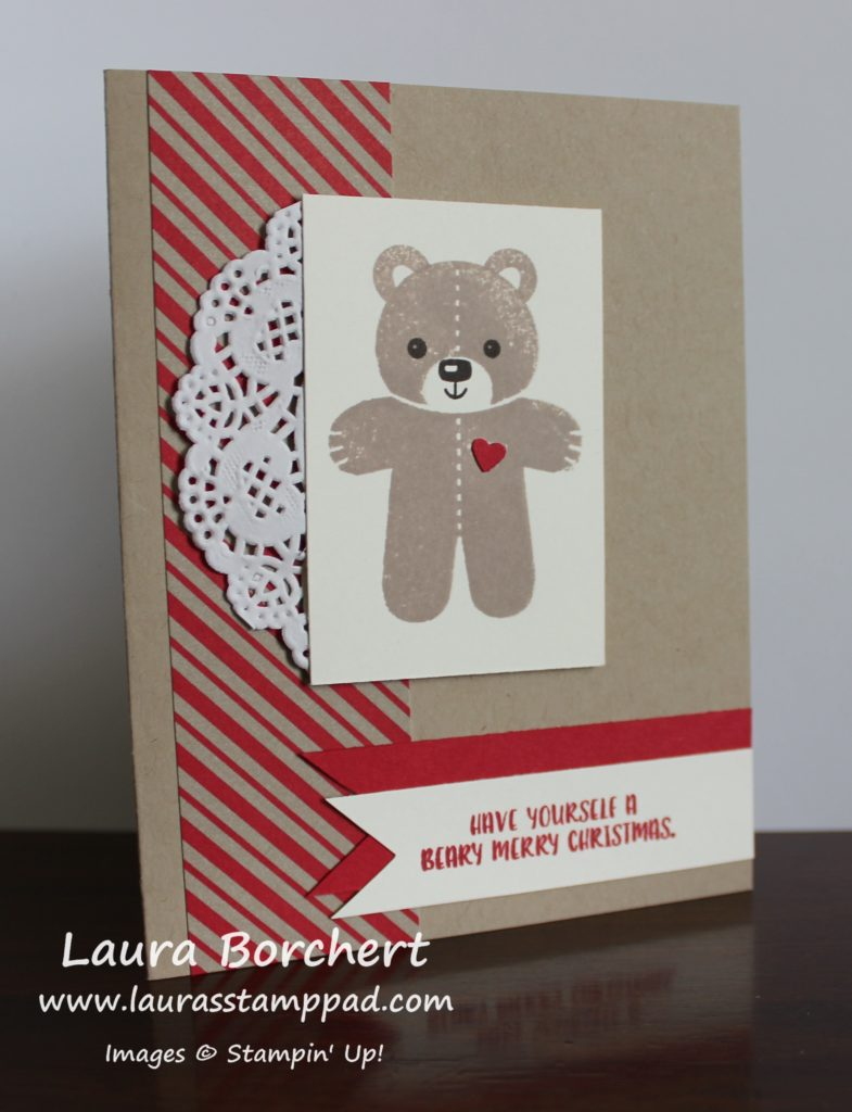 beary merry christmas, www.LaurasStampPad.com