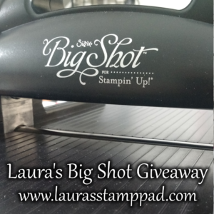 bigshotgiveaway, www.LaurasStampPad.com