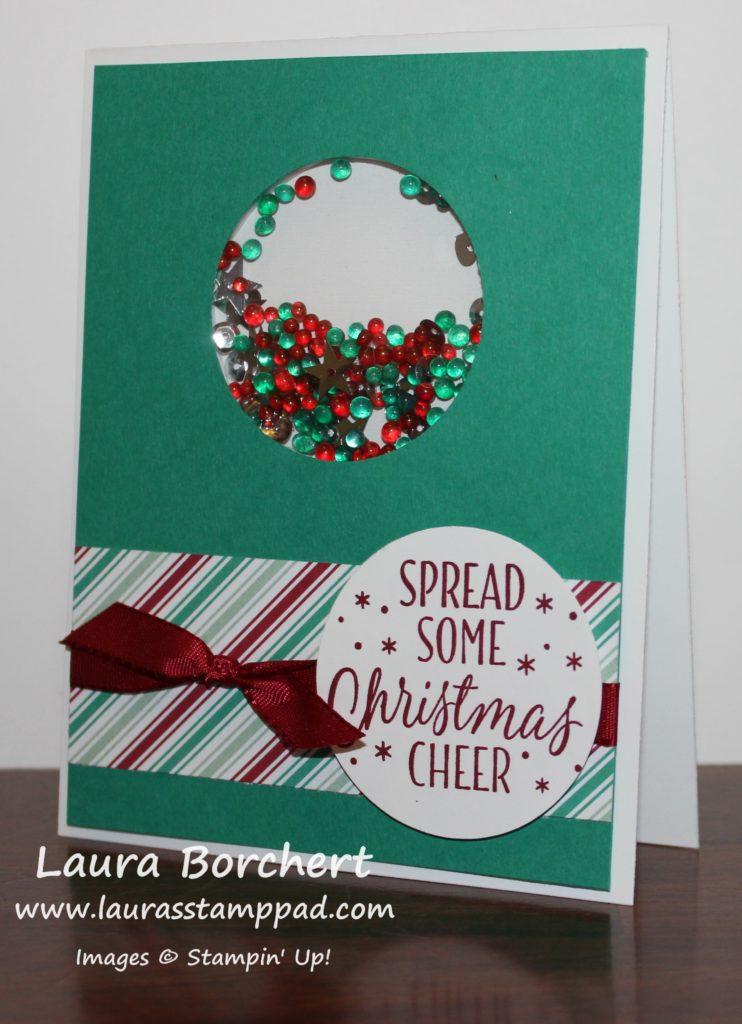 christmas-shaker-card, www.LaurasStampPad.com