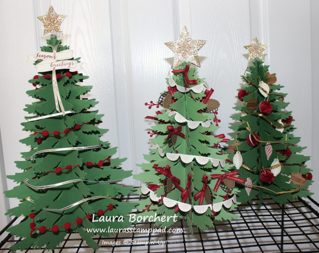 Evergreen Trees, www.LaurasStampPad.com