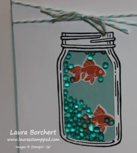 Jar of Fishy, www.LaurasStampPad.com