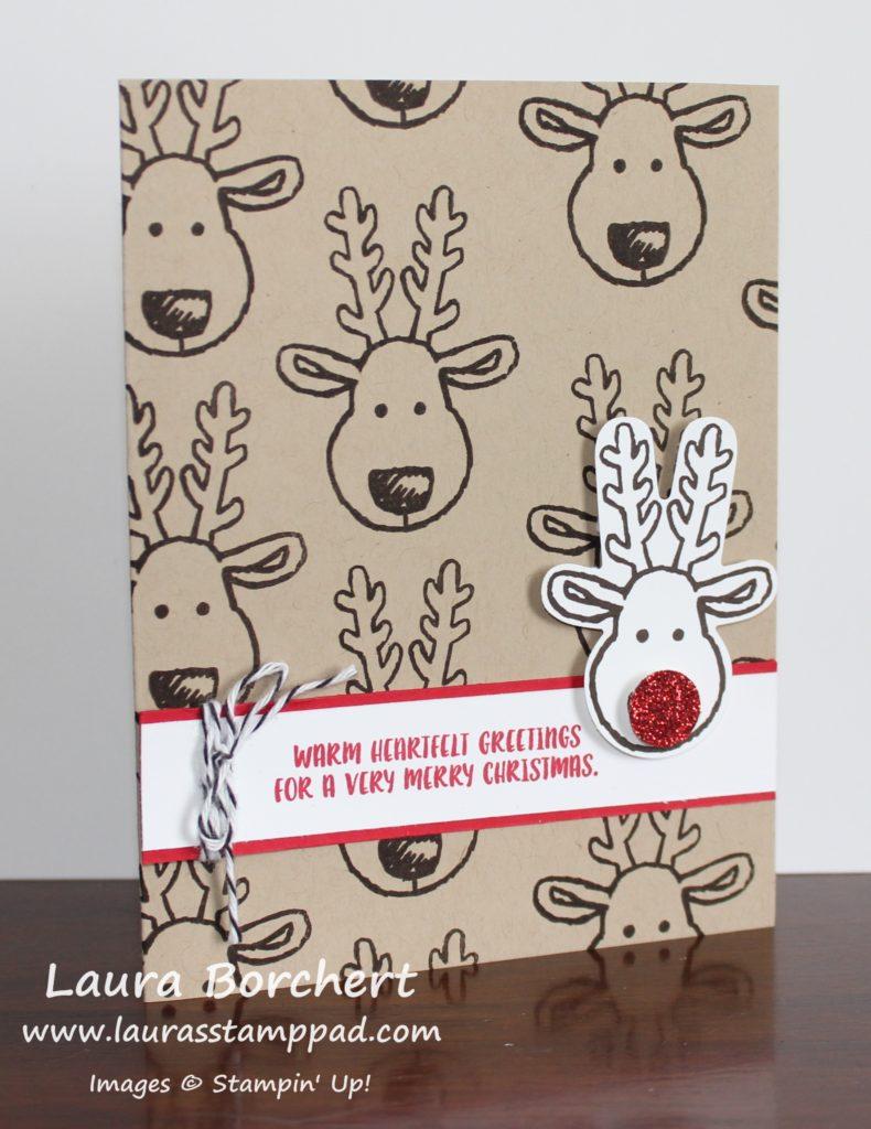 Rudolph The Reindeer, www.LaurasStampPad.com