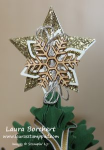Star Tree Topper, www.LaurasStampPad.com