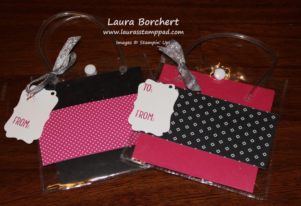 Black & Pink Gift Bag, www.LaurasStampPad.com