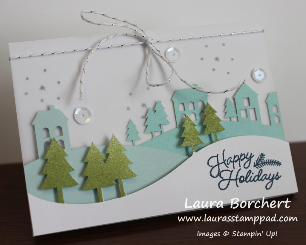 Happy Holidays, www.LaurasStampPad.com
