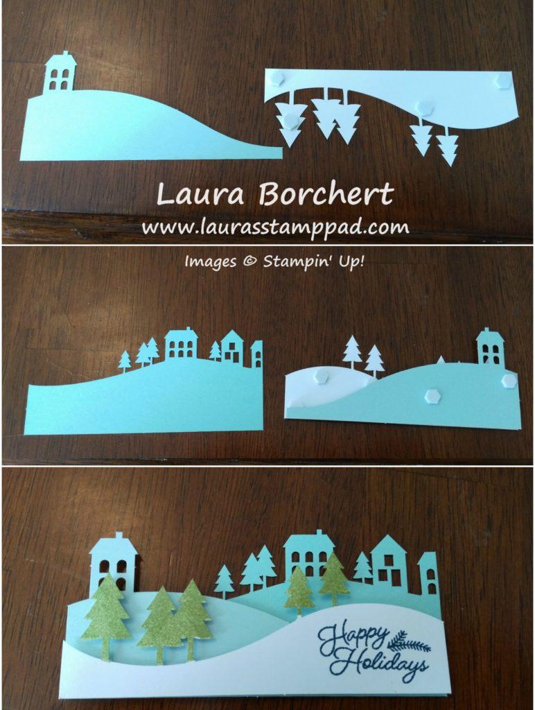 3D Snowy Village, www.LaurasStampPad.com