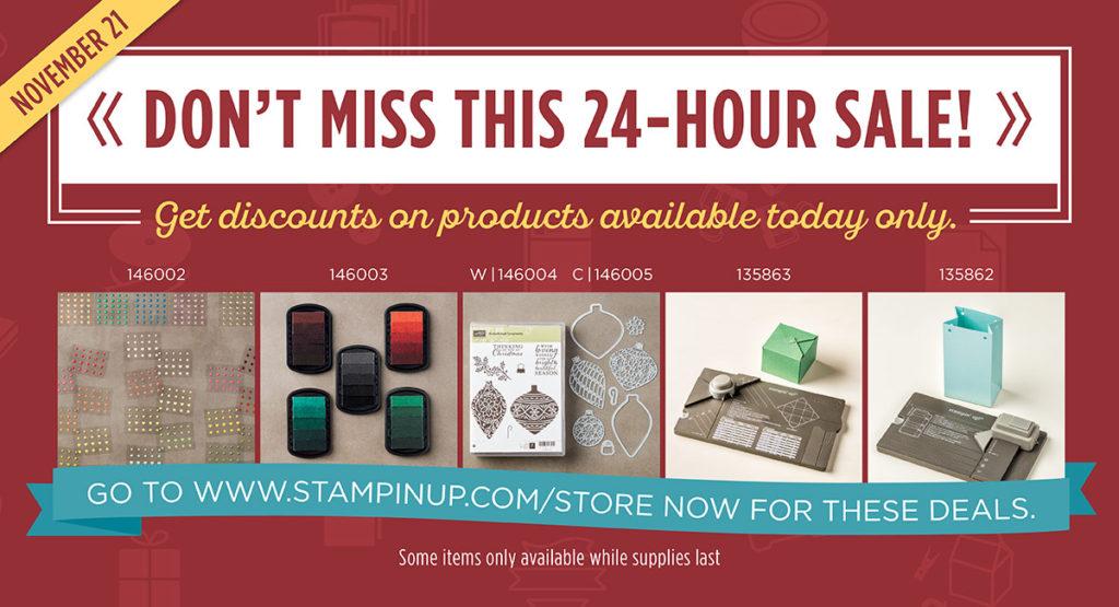Flash Sale, www.LaurasStampPad.com