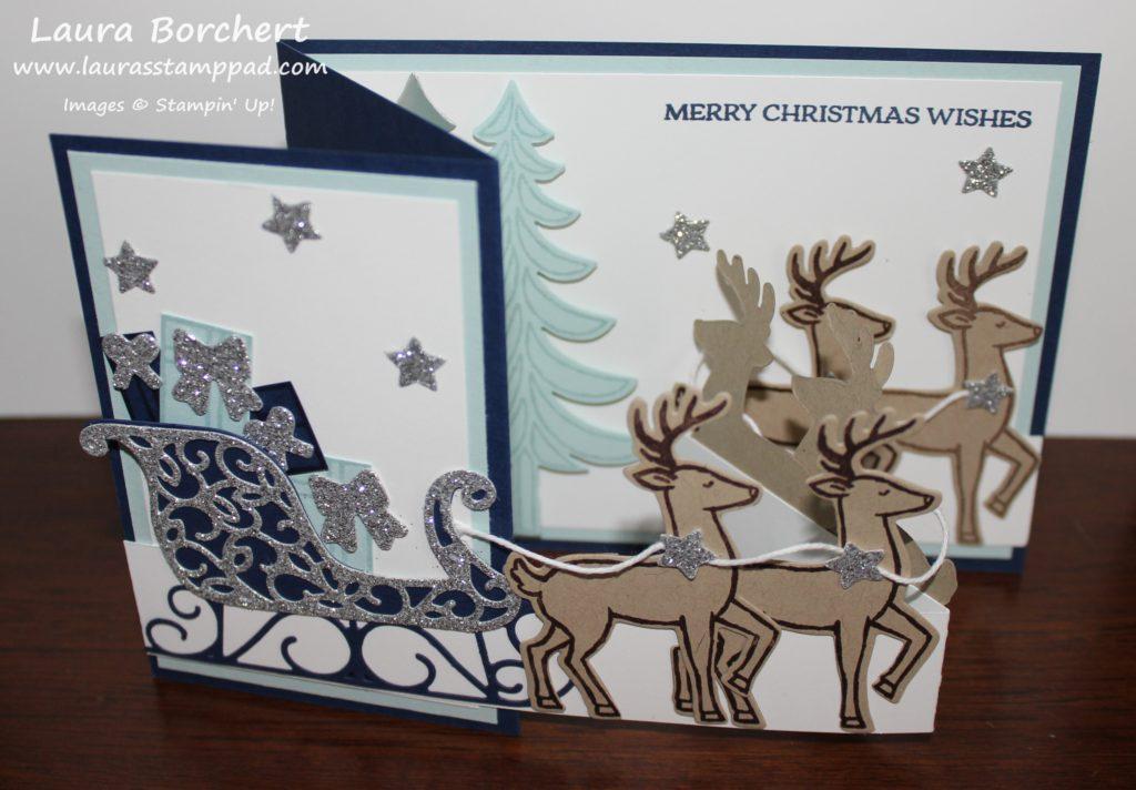 Reindeer Sleigh, www.LaurasStampPad.com