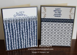 Navy and Tan, www.LaurasStampPad.com