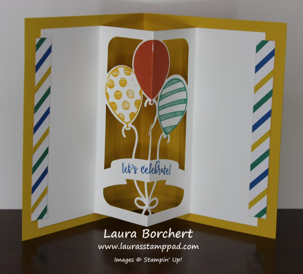 Inside Balloon Pop Out, www.LaurasStampPad.com