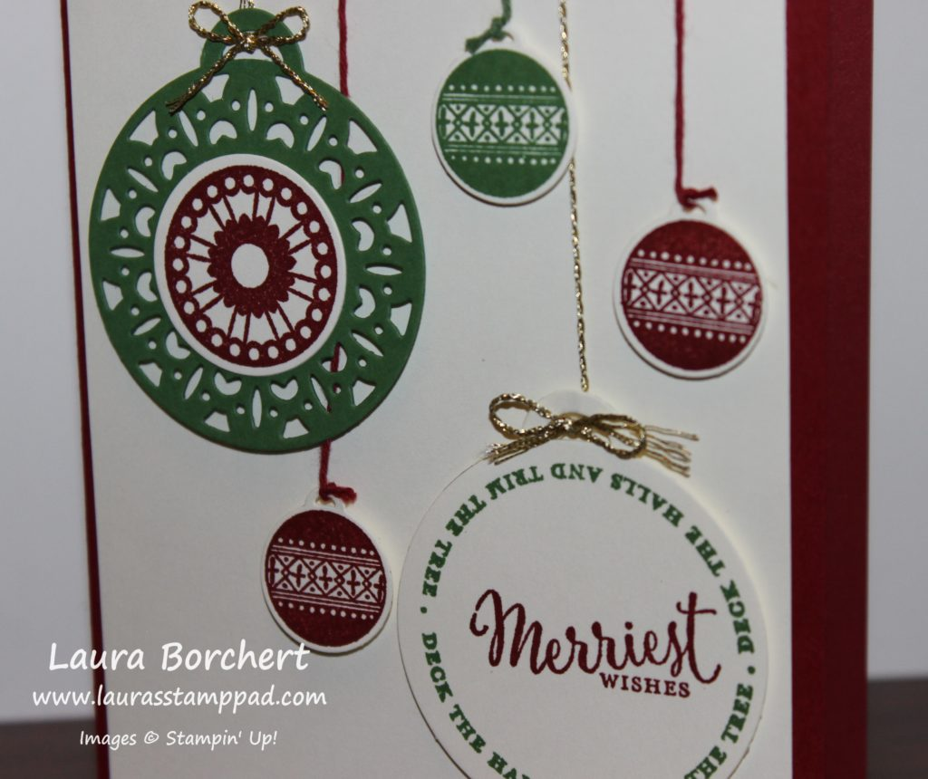 Merriest Wishes, www.LaurasStampPad.com