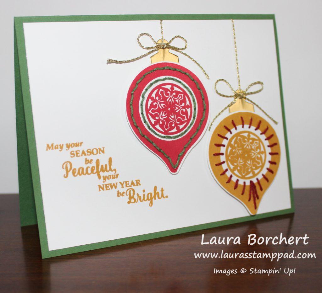 stitched-ornaments, www.LaurasStampPad.com
