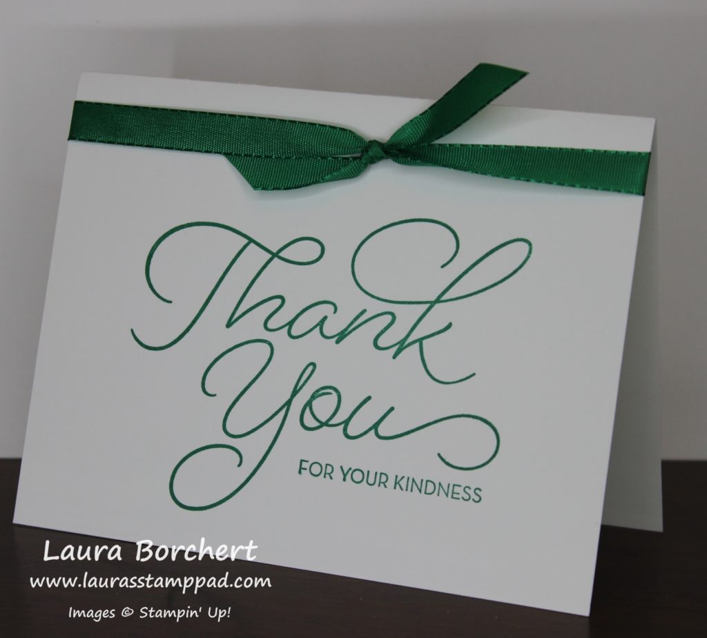 Thank You For Your Kindness, www.LaurasStampPad.com