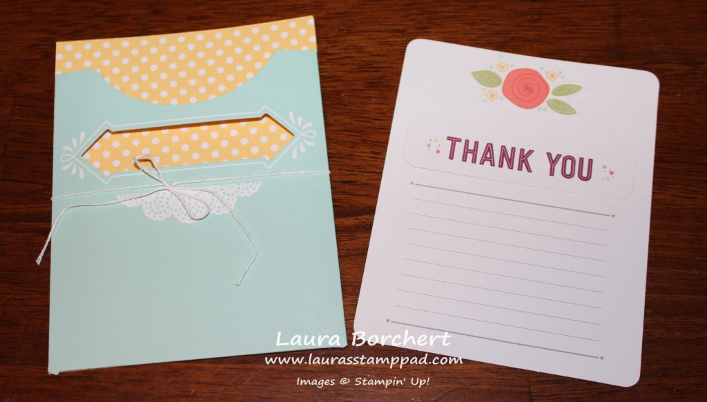 Thank you Note Card, www.LaurasStampPad.com