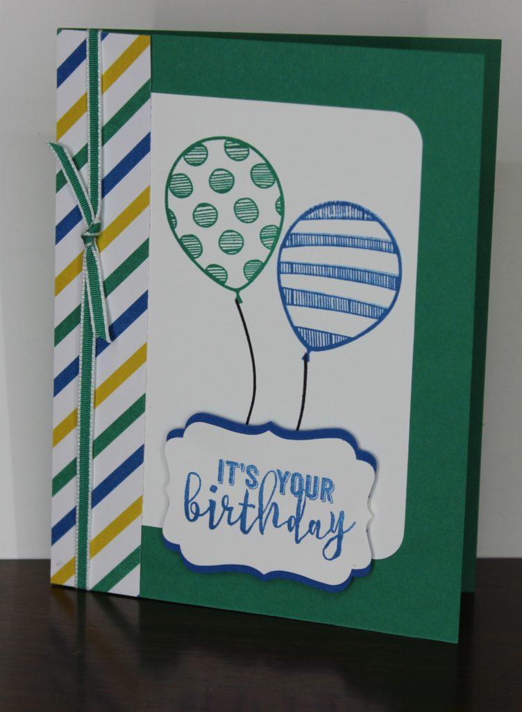 Blue.Green Balloons, www.LaurasStampPad.com