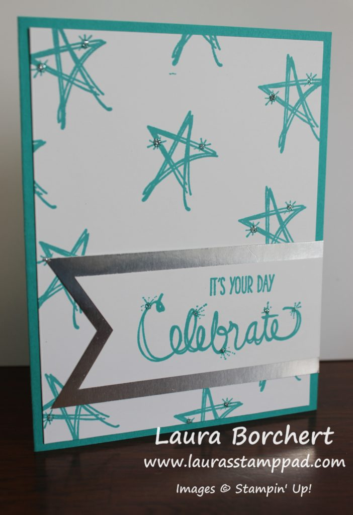 Celebrate with Silver, www.LaurasStampPad.com