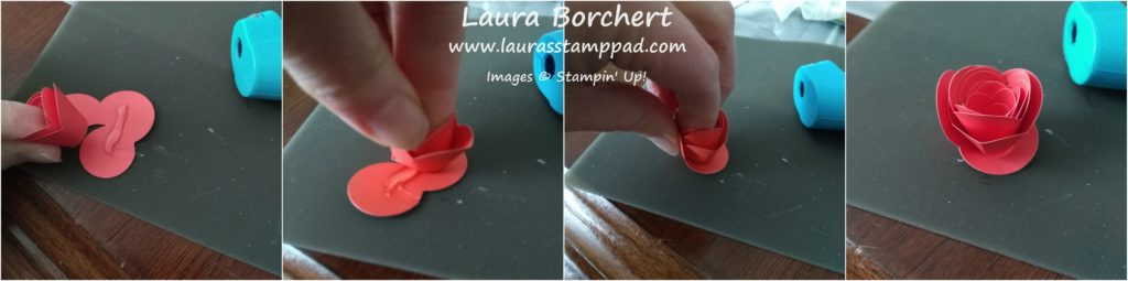 Mini Rose Buds Tutorial, www.LaurasStampPad.com