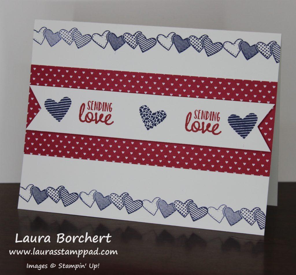 Sending Love, www.LaurasStampPad.com