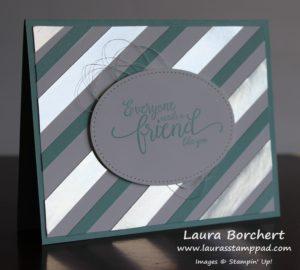 Silver Foil Strips, www.LaurasStampPad.com