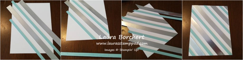 Striped Background Tutorial, www.LaurasStampPad.com