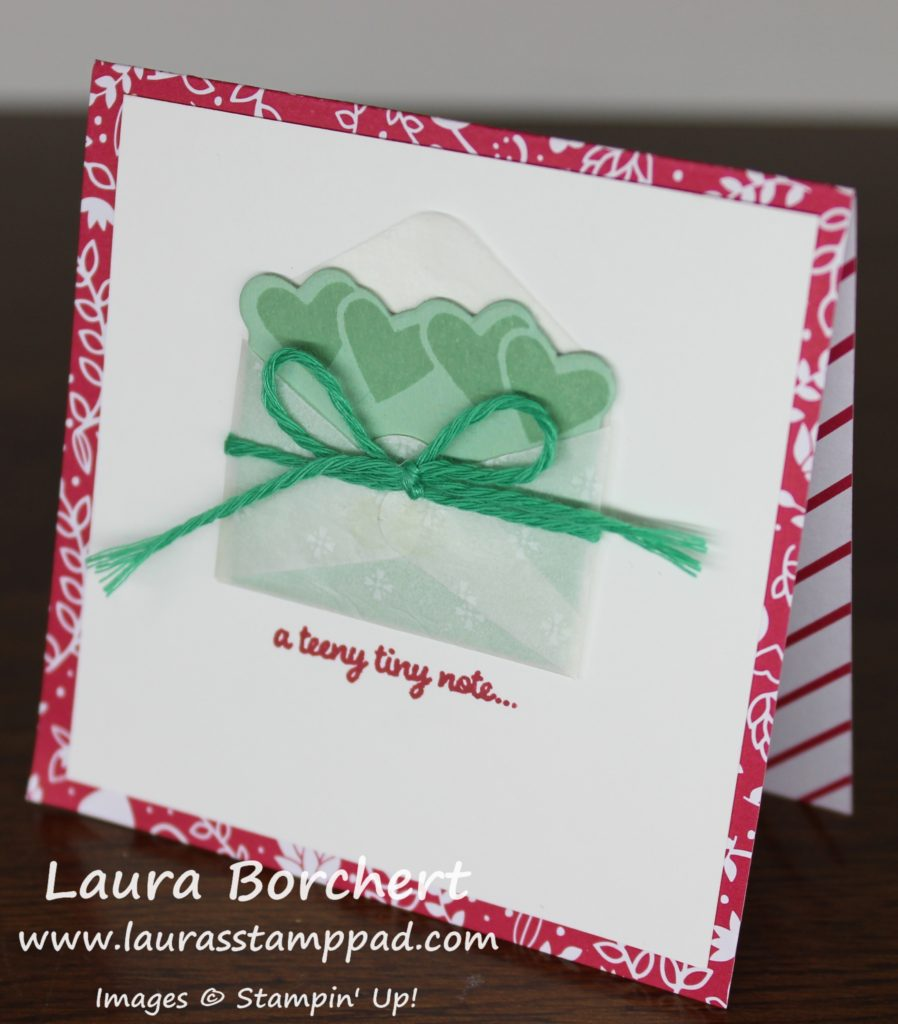 Teeny Tiny Note, www.LaurasStampPad.com