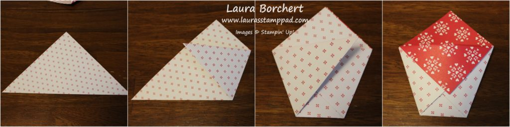 Triangle Treats Tutorial, www.LaurasStampPad.com