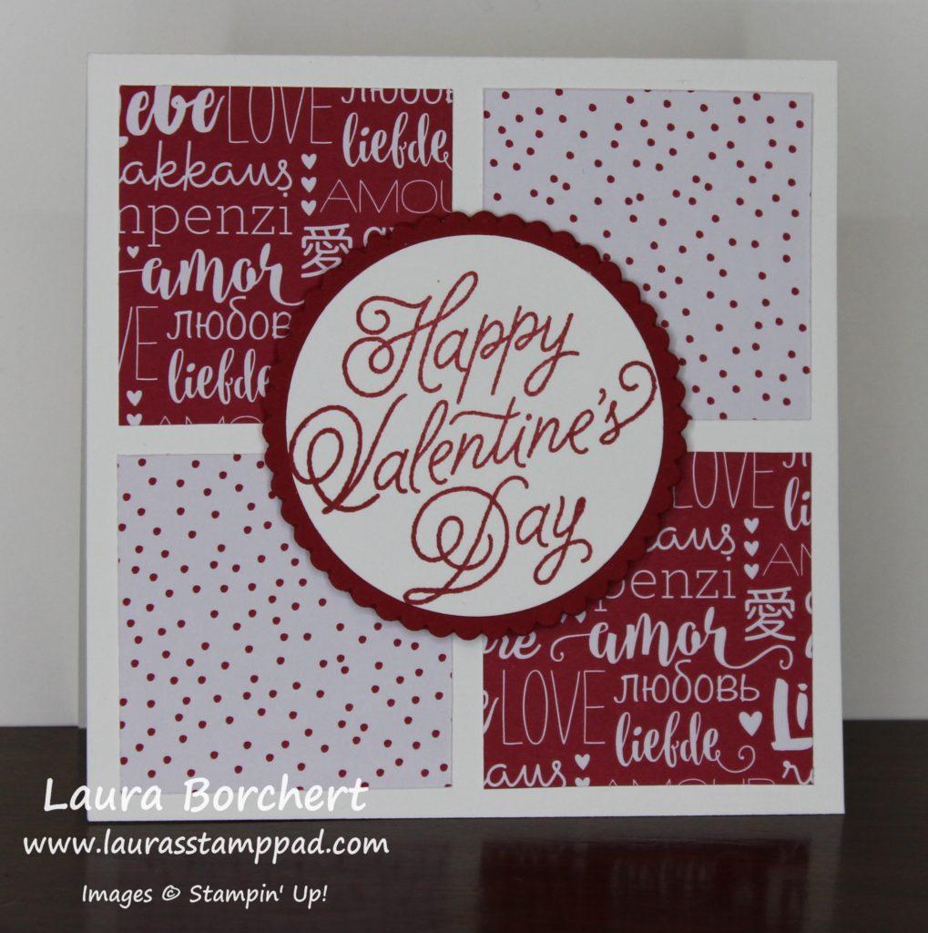 Sending Love Designer Paper, www.LaurasStampPad.com
