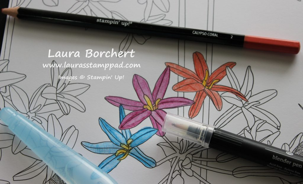 3 Ways to Use Watercolor Pencils, www.LaurasStampPad.com