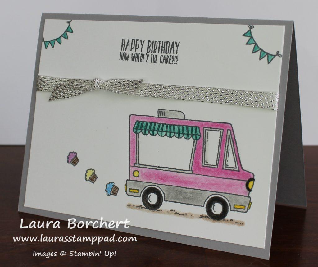 Cupcake Exhaust, www.LaurasStampPad.com