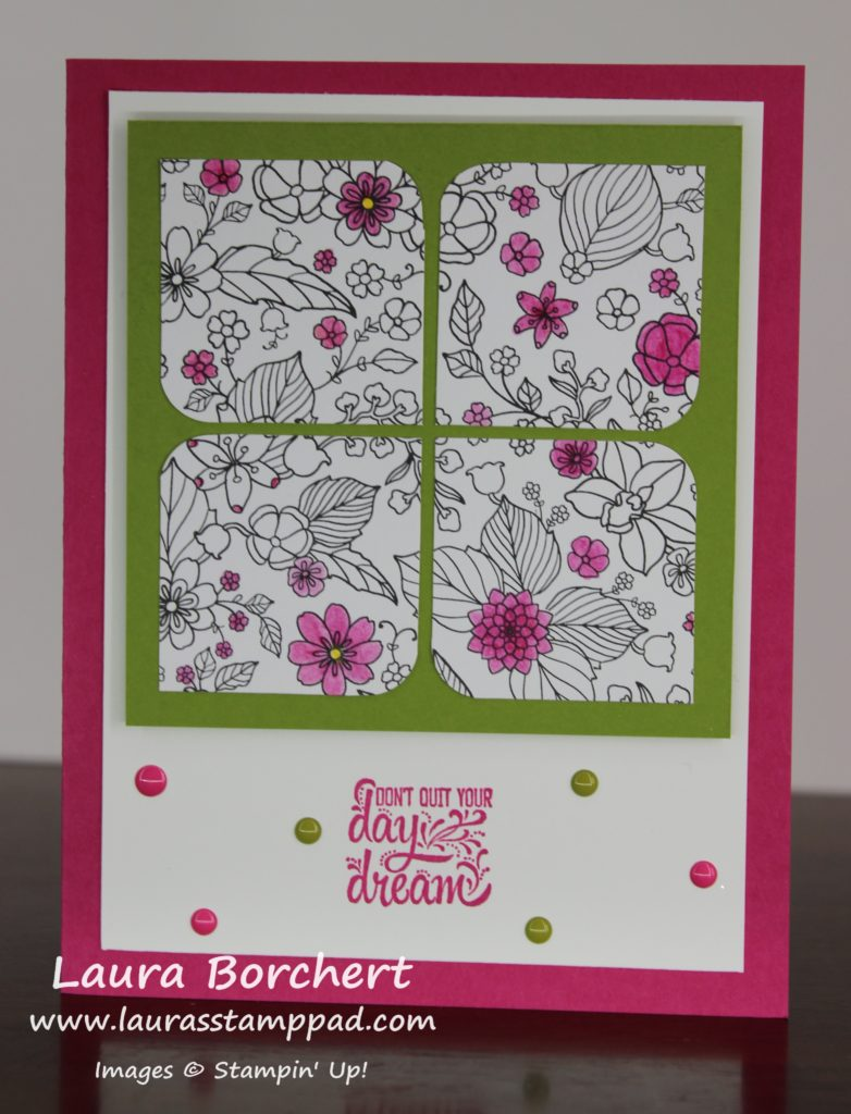 Coloring Flowers to Highlight, www.LaurasStampPad.com