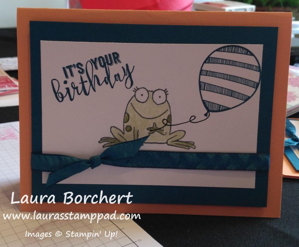 Froggy Card, www.LaurasStampPad.com