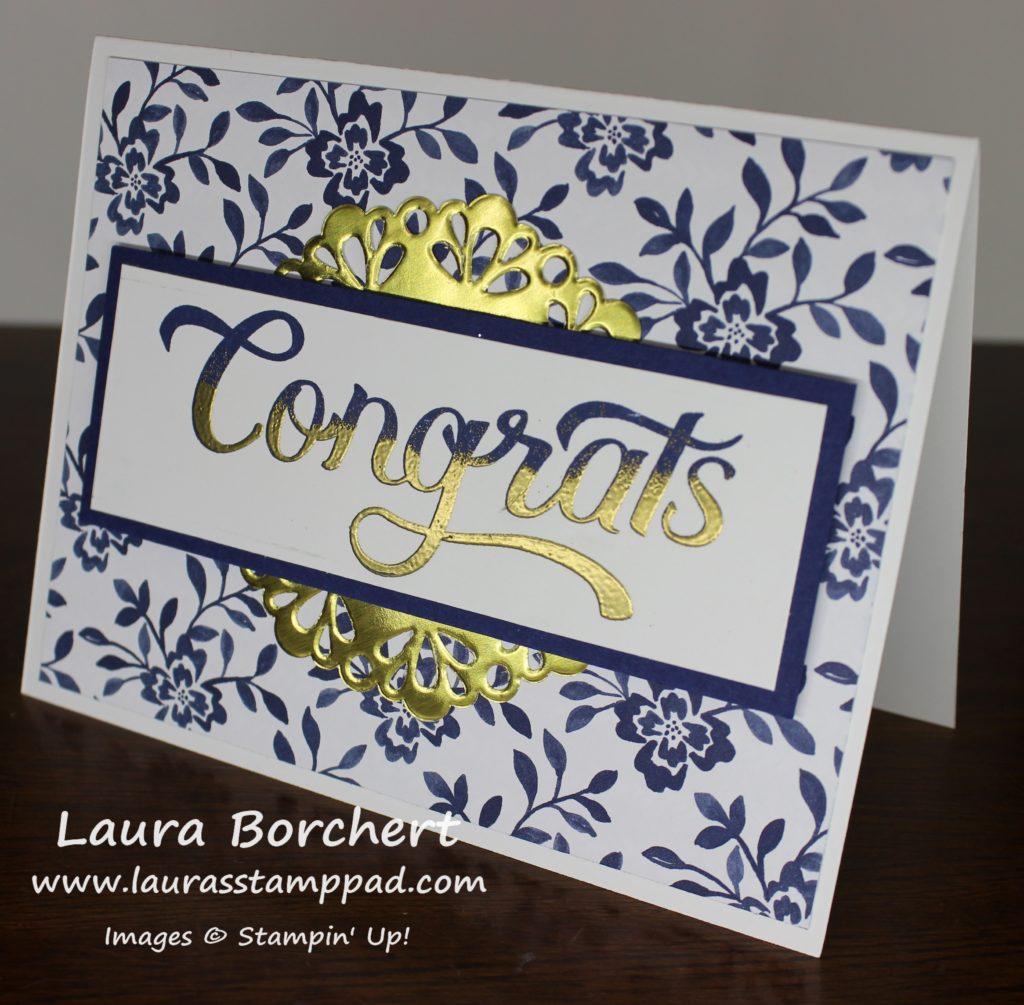 Golden Congrats, www.LaurasStampPad.com