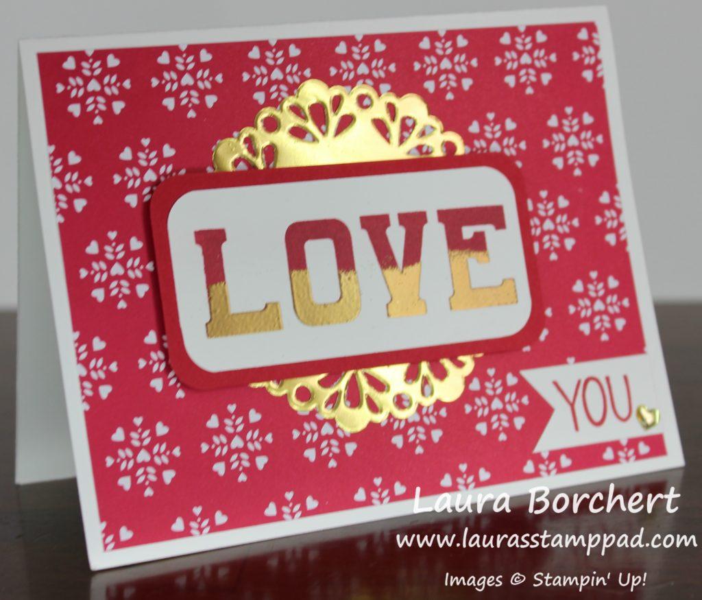 LOVE, www.LaurasStampPad.com