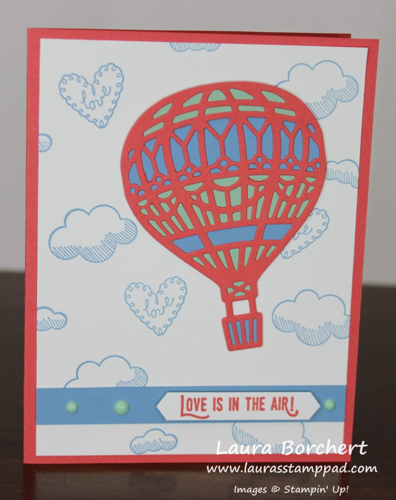 Love Is In The Air, www.LaurasStampPad.com