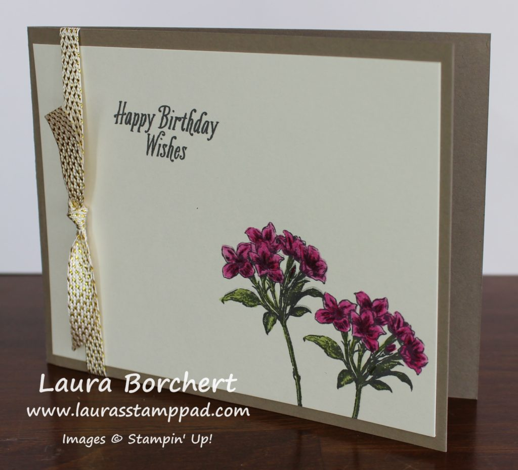 Pink Lillies, www.LaurasStampPad.com