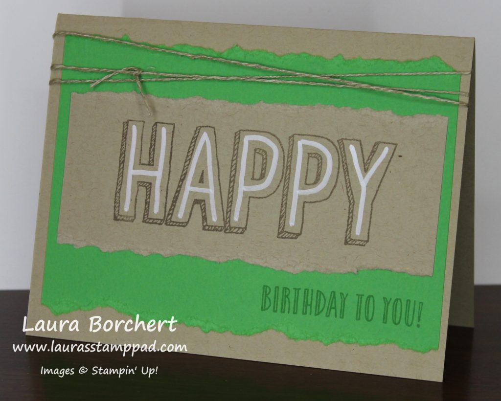 Rustic Birthday Chalk Marker, www.LaurasStampPad.com