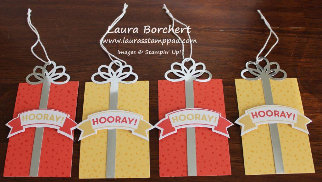 Birthday Present Tags, www.LaurasStampPad.com