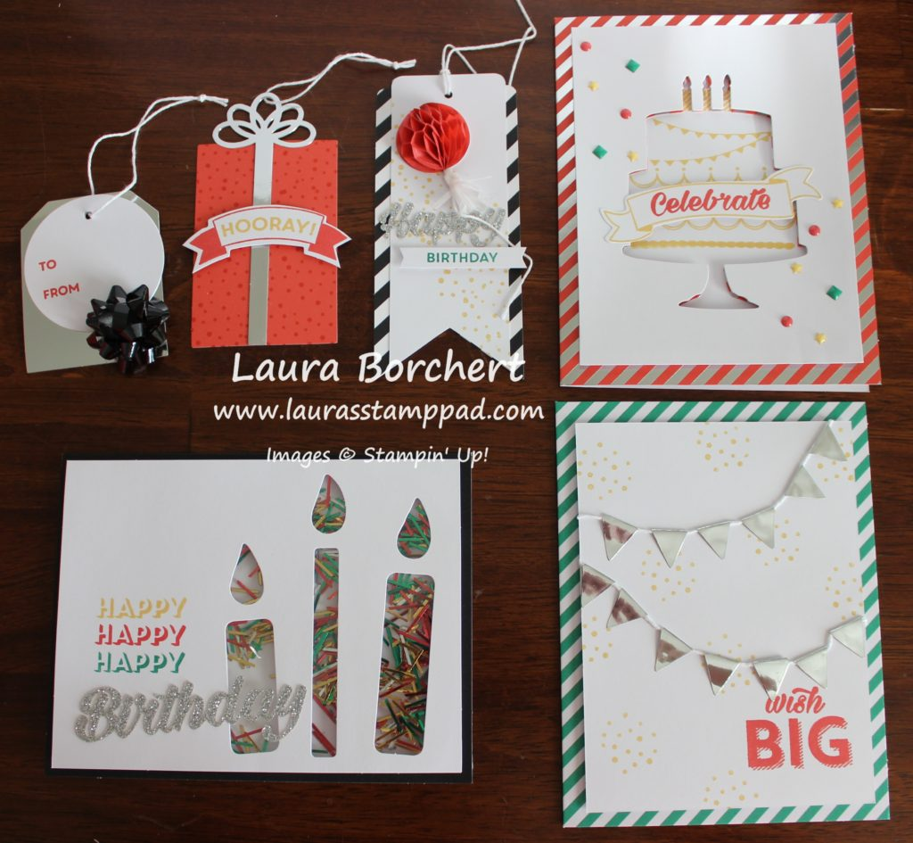 Birthday Bright Project Kit, www.LaurasStampPad.com
