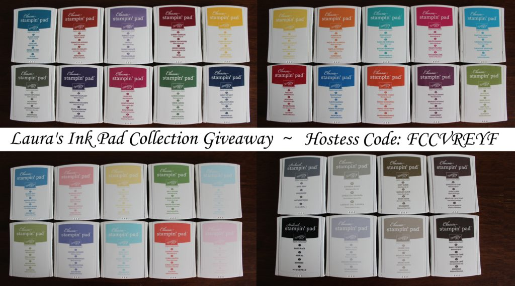 Ink Pad Collection Giveaway, www.LaurasStampPad.com