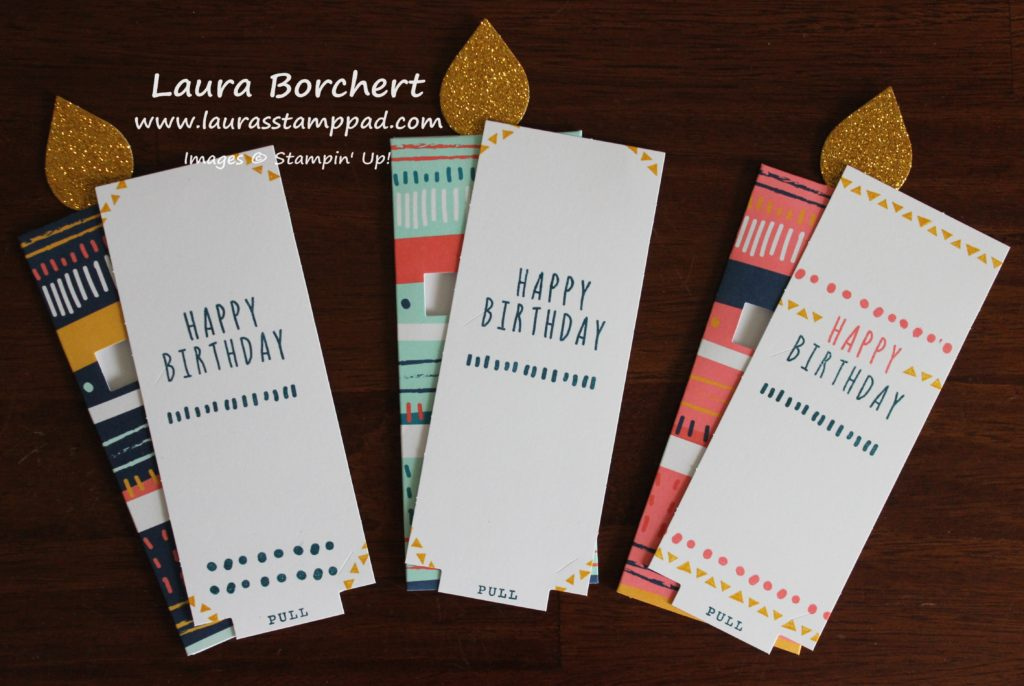Many Happy Birthdays, www.LaurasStampPad.com