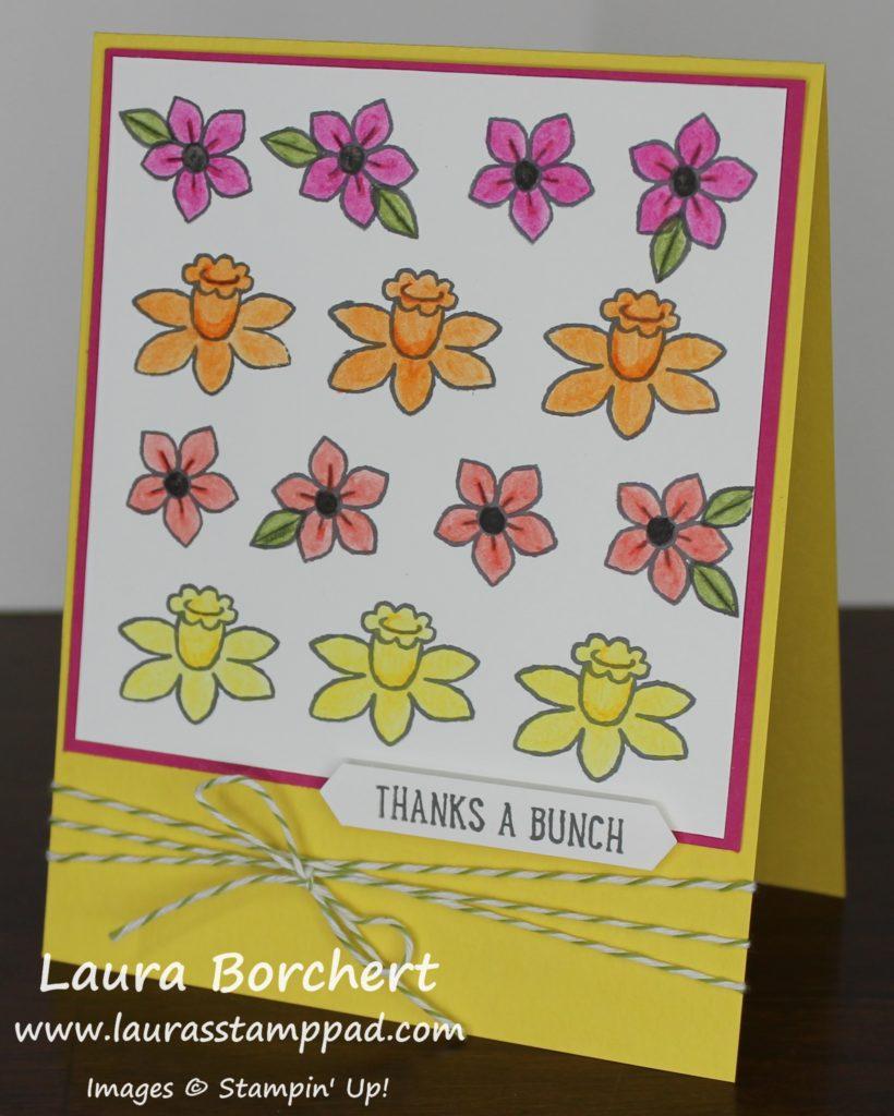 Bright Spring Flowers, www.LaurasStampPad.com